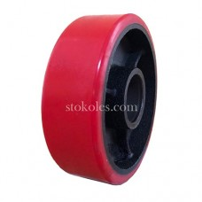 Колесо рулевое чугун/полиуретан PU160х50 (К4) для роклы