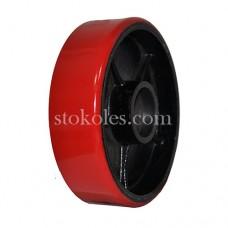 Колесо рулевое чугун/полиуретан PU180х50 (К4) для роклы