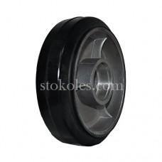 Колесо рулевое алюминий/резина R 160х50 (К4) для роклы