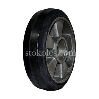Колесо рулевое алюминий/резина R 200х50 (К4) для роклы