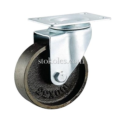 Термостойкое чугунное колесо 4054-125 поворотное