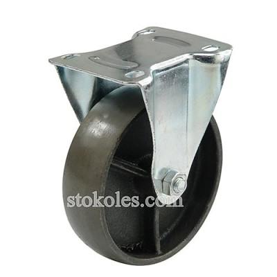 Термостойкое чугунное колесо 4053-125 неповоротное