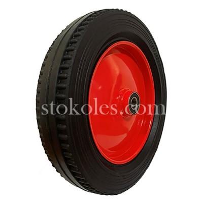 Колесо для тачки литое 4.00-8-204 красный диск