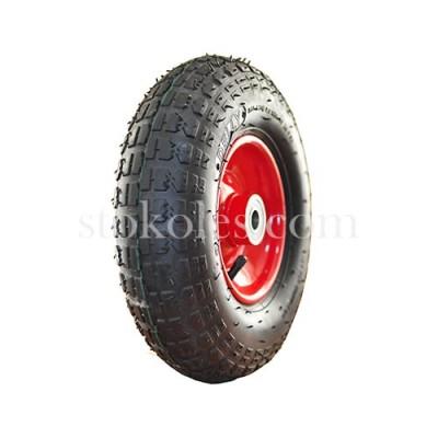 Пневматическое колесо для тачек, тележек 4.00-6/204-RS