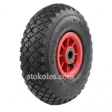 Пневматическое колесо для тачки, тележки 3.00-4-20 (260x85)