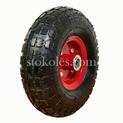 Пневматическое колесо для тачки, тележки 3.50-4-20 (4.10/3.50-4)