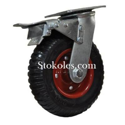 Колесо для тележек большегрузное 630200-(8x4) с тормозом