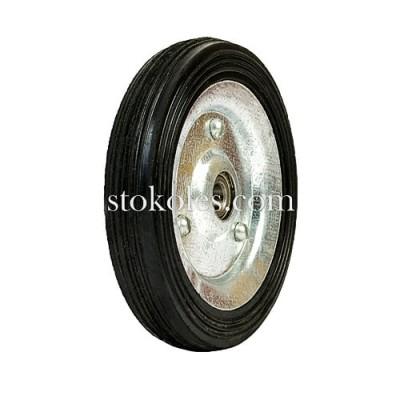 Колесо на черной резине 420125-10-1У без кронштейна