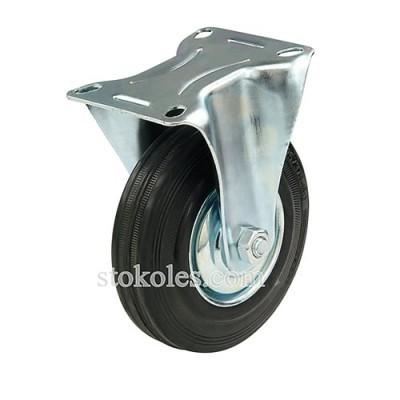 Колесо черная резина 510125 промышленное неповоротное