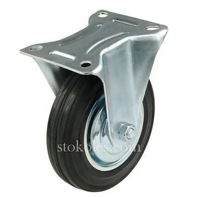 Колесо на черной резине 510160 неповоротное