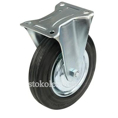 Колесо черная резина 510200 промышленное неповоротное
