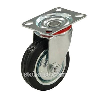Колесо черная резина 520075 промышленные поворотное