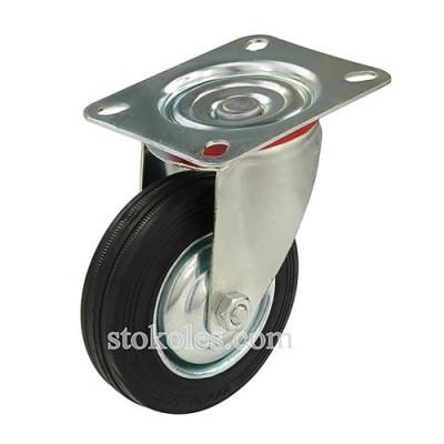 Колесо черная резина 520100 промышленное поворотное