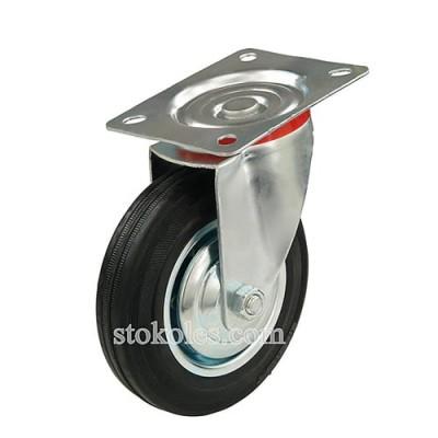 Колесо черная резина 520160 промышленное поворотное
