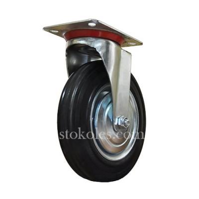 Колесо черная резина 520200 промышленное поворотное