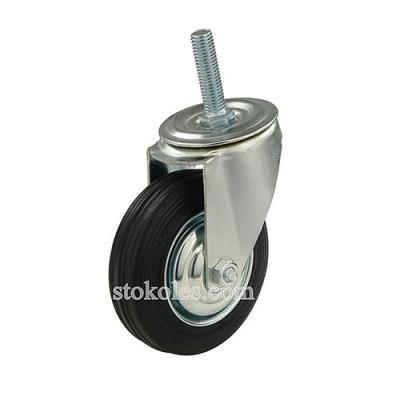 Колесо черная резина 540100 промышленное